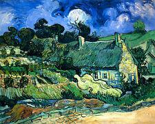 Vincent van Gogh Chalets reproduction giclee 8.3X12 canvas print art poster