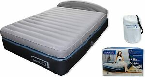 Aerobed OptiComfort Queen Air Mattress With Headboard & Built In Pump|Dmg Box 24