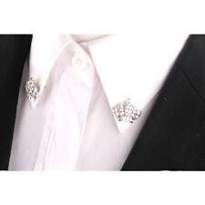 Moda Corona Colletto da Camicia PIN Collare SPILLA Suggerimenti Argento Uomo