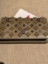 Christian Louboutin Real Leather Spiked Clutch Purse Strap On