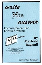 Write His Answer: Encouragement for Christian Writ