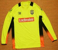 2015 Notts County Away Football Shirt by Carbrini, Adult Large, long sleeve