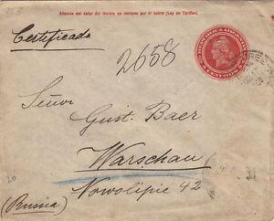 Lettre Argentina Entier CaD Buenos-Aires pour la Russie 1908 Cover Rare