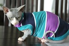 Sphynx Cat Shirt Clothing Jumper Coat Stripey SIZE Small (Long)