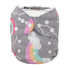 ALVA Baby Girl  Cloth Pocket Diaper Reusable Washable Nappy +1Insert Rainbow
