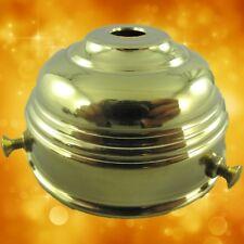 Glashalter 60mm HELL!! Messing brün. gestanzt Beleuchtungs Lampenzubehör Vintage