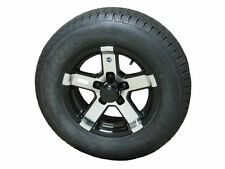 Arisun ST175/80D13 Bias Trailer Tire & Aluminum Wheel Series 07 Black 5-4.5 bbb