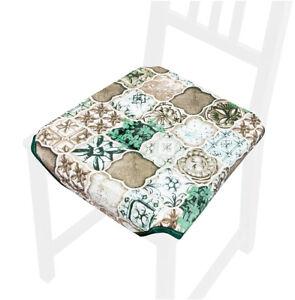Cuscino sedia universale piastrelle maioliche coprisedie cotone cucina lavabile