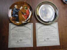 Bradford Exchange Rockwell Collector's Plate Lot of 2 Pcs with Coas 121515ame5