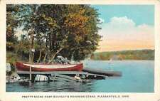 Pleasantville Ohio Buckleys Roadside Stand Waterfront Antique Postcard K64815