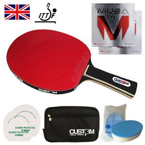 Custom Table Tennis Professional Carbon XIOM MUSA Table Tennis Bat Fast UK Post