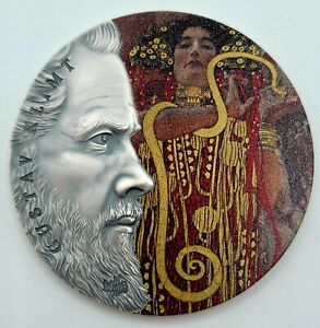 Ghana - 2020 - World's Greatest Artists - Gustav Klimt - 2 oz Silver Coin