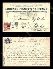 Firenze - Prodotti chimici Lorenzo Manetti - 16.3.1917