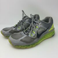 NIKE Air Max 2013 Wolf Grey Volt Shoes Neon Style 554886-007 Mens Size US 8