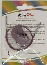KnitPro 28 Cm Interchangeable Cable Purple