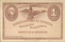Guatemala RR Train Postal Card 1 Centavo American Bank Note Co Postcard