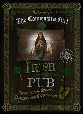 CONNEMARA GIRL TRADITIONAL IRISH PUB SIGN HOME DECOR  VINTAGE STYLE METAL SIGN