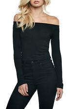 Bardot off Shoulder Top Black Black 6