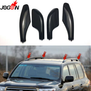 4Pcs Roof Rack Bar Rail End Cover Shell Cap For Toyota Land Cruiser LC100 98-07