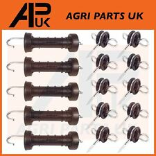 5 x Electric Fence Gate Handle & 10 x Insulators Kit Heavy Duty Pack Spring NEW