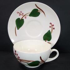 Blue Ridge Southern Potteries Stanhome Ivy Coffee Cup & Saucer Set Skyline Shape
