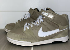 Nike Sb Mogan Mid 2 Jr Shoes Youth Size 5.5 Khaki 645025-238 Eur 38 Free Ship Gc