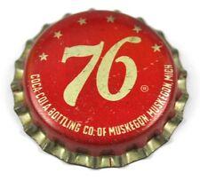 Vintage Coca-Cola Coke 76 Muskegon Kronkorken USA Soda Bottle Cap Korkdichtung