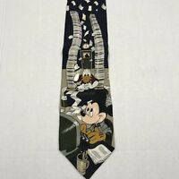Mickey Mouse Donald Duck Office Work Place Disney Store Men's Neck Tie Italy