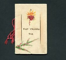 """""""FIAT VOLUNTAS TUA"""" Original old BOOKLET hand painted w/ 6 PRAYERS for HOLY WEEK"""