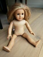 American Girl Doll Truly Me #24 Naked Doll Long Hair Blonde Freckles Brown Eyes