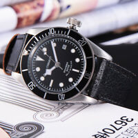 41mm CORGEUT black dial black bezel Sapphire Glass miyota Automatic mens Watch