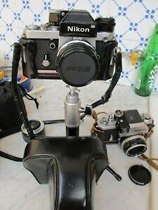 NIKON F2 CON PHOTOMIC 28 3,5 BORSA  CROMO