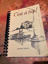 C'est si bon Cookbook Heritage Recipes vtg 1970 Baton Rouge Cajun YWCO Louisiana