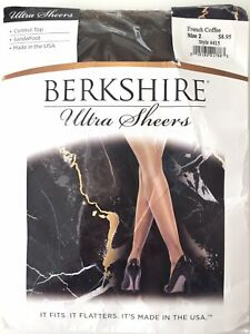 BERKSHIRE Ultra Sheer Pantyhose Size 2 French Coffee Style 4415