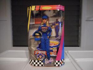 "1998 98 Nascar Barbie 12"" Doll 50th Anniversary Collector Edition Figure New NIB"