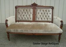 60588 Antique Eastlake Victorian Loveseat Sofa
