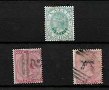 Natal, small QV selection all Crown CC wmk, SG 59 MNG, SG 66 & 67 used (7366)