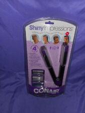 NEW CONAIR SHINY IMPRESSIONS HAIR TOOL 4 IN 1 STRAIGHTENING SHINING STAR & HEART