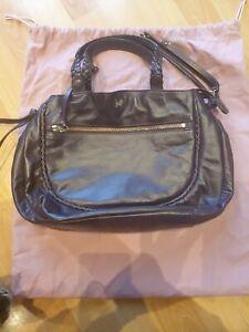 Radley Genuine Leather Bag Handbag Maroon Burgundy Purple Plum