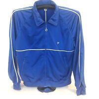 Vintage Speedo Royal Blue Warm-Up Track Jacket Full Zip Collar Mens Size Large
