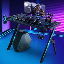 Insma Gaming Desk Computer Racing Style Gaming Table Ergonomic Gamer Workstation