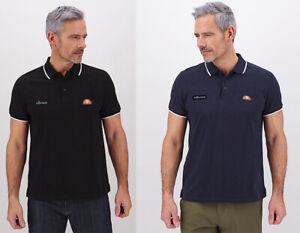 Ellesse Men Short Sleeve Vintage Cotton Pique Jersey Polo Shirt top Tee S M L