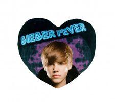 Oreiller Filles Ventilateurs Neuf Justin Bieber Officiel Cœur Coussin
