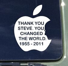 APPLE STEVE JOBS YOU CHANGED THE WORLD RIP car window vinyl decal stickers