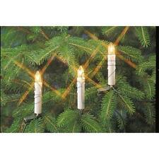 Lichterkette Innenkette mit Topkerzen  weiß 10- 16- 20- flammig