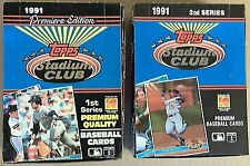 1991 Topps Stadium Club Baseball Series 1+ 2 Box 36ct. Premiere Edition