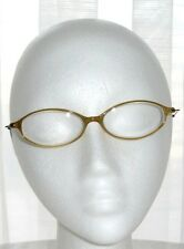VINTAGE EYEGLASS FRAMES OVAL SHAPE YELLOW CLEAR FADE METAL ARMS 1980's