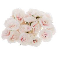 50 stk Kuenstliche Seide Rosen Bluetenkoepfe Blumen-Koepfe Hochzeit Parteidek W2