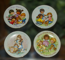 Lot of 4 Mother's Day Decorative Plates Avon '83 '88 '89 '92 Gold Trim - Vintage