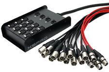 XSPRO 12 X 4 Channel 100' Pro Audio Low Profile Snake 12x4x100